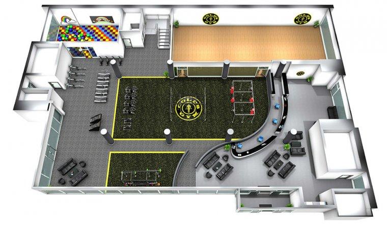 Největší Gold´s Gym nasvětě má 6 pater plně vybavených zařízením Escape Fitness_02.jpg