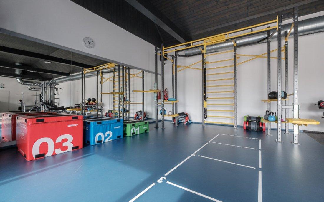 Funkční zóna zdílny 3D FITNESS vjednom znejmodernějších sportovních areálů vPraze veSportcentrum Koráb.